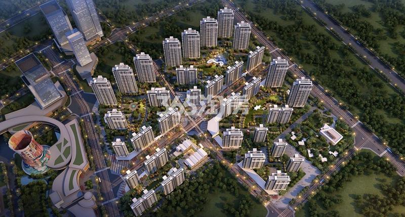 华侨城运河湾鸟瞰图