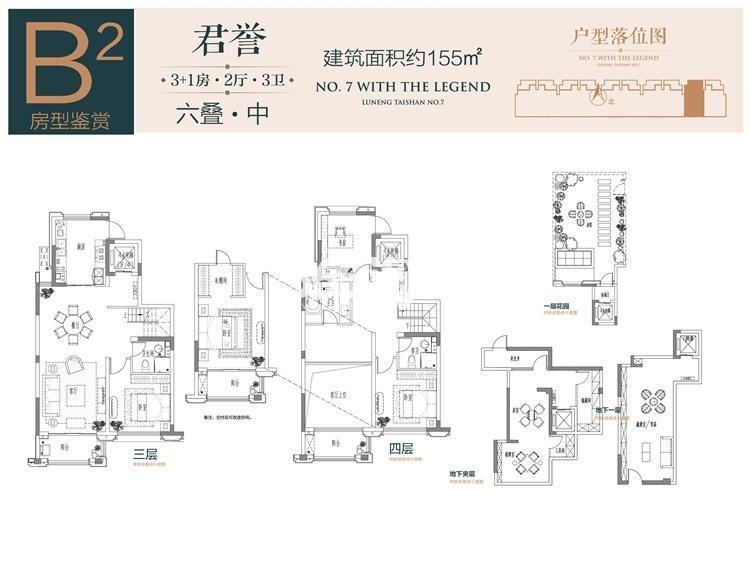鲁能泰山7号院六叠B2户型