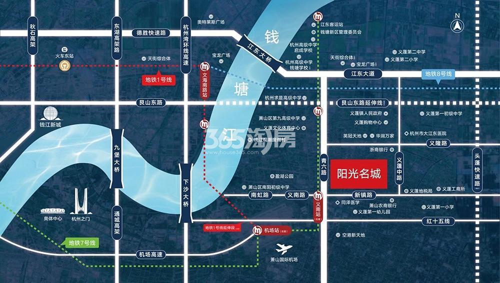 春天滨江阳光名城交通图