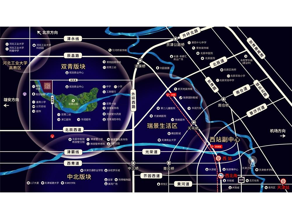 泽信公园御府交通图