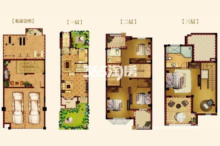 长泰国际社区别墅290平户型图
