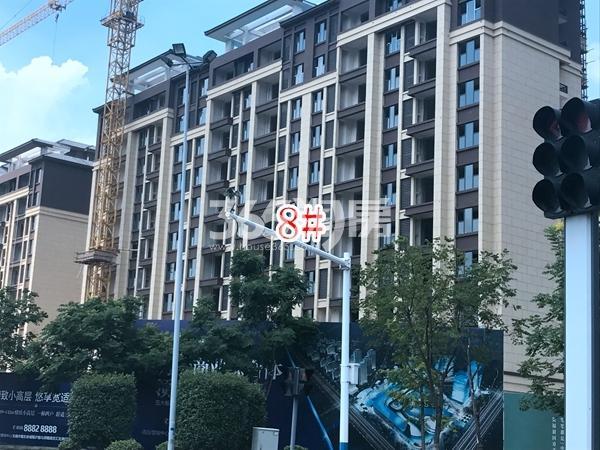 中隆广场・润��府小高层8#楼实景图(2017.10 摄)