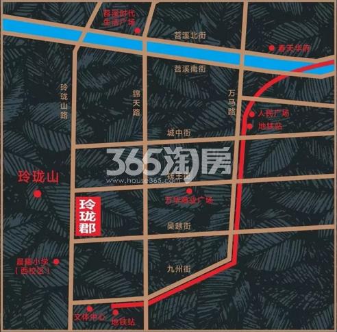 玲珑郡交通图
