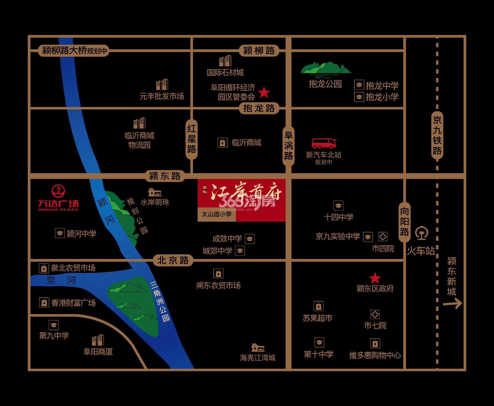 平和·江岸首府交通图