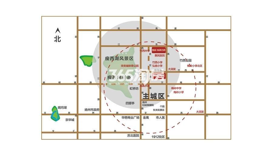 奥园观庭交通图