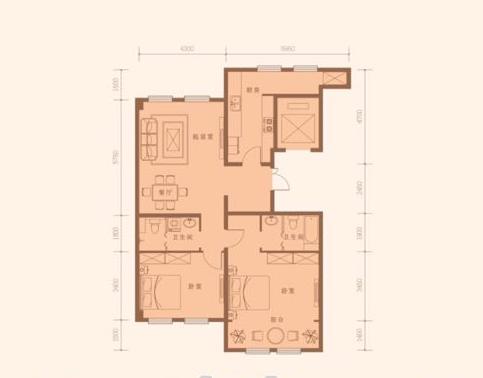 133平米 2室2厅2卫