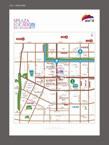 盛安广场交通图