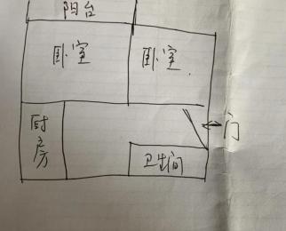 栖化新村2室1厅1卫60㎡整租简装