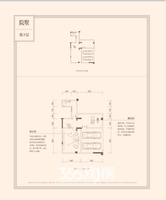 万科城市之光【院墅】(256—282㎡)地下层户型图