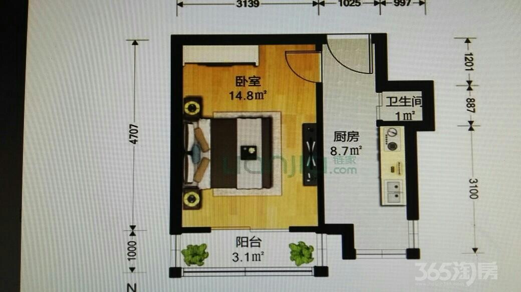 泗阳里1室1厅1卫31.5平米2003年产权房简装