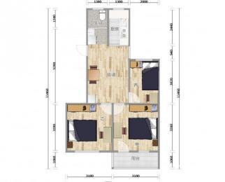外港新村 三室一厅一卫 合租 带阳台 品牌公寓房 房间采光好