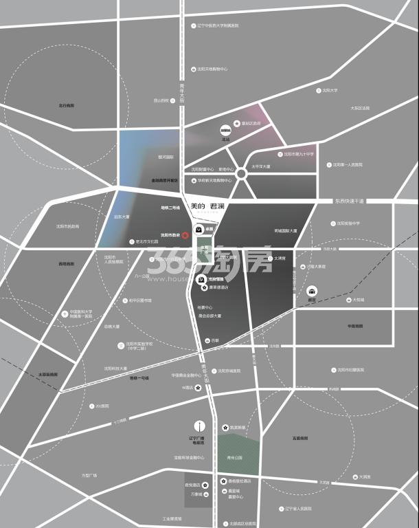 美的君兰江山交通图