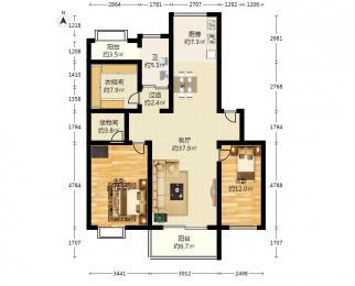 天悦花园3室2厅2卫116平米2005年产权房精装