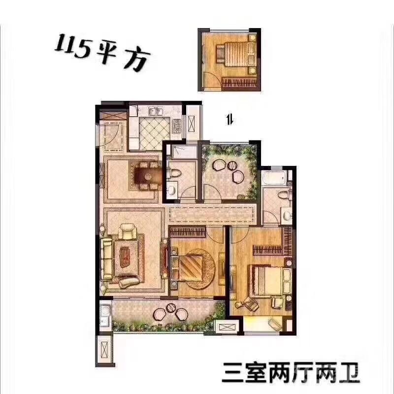 武进新城锦域3室2厅2卫115�O