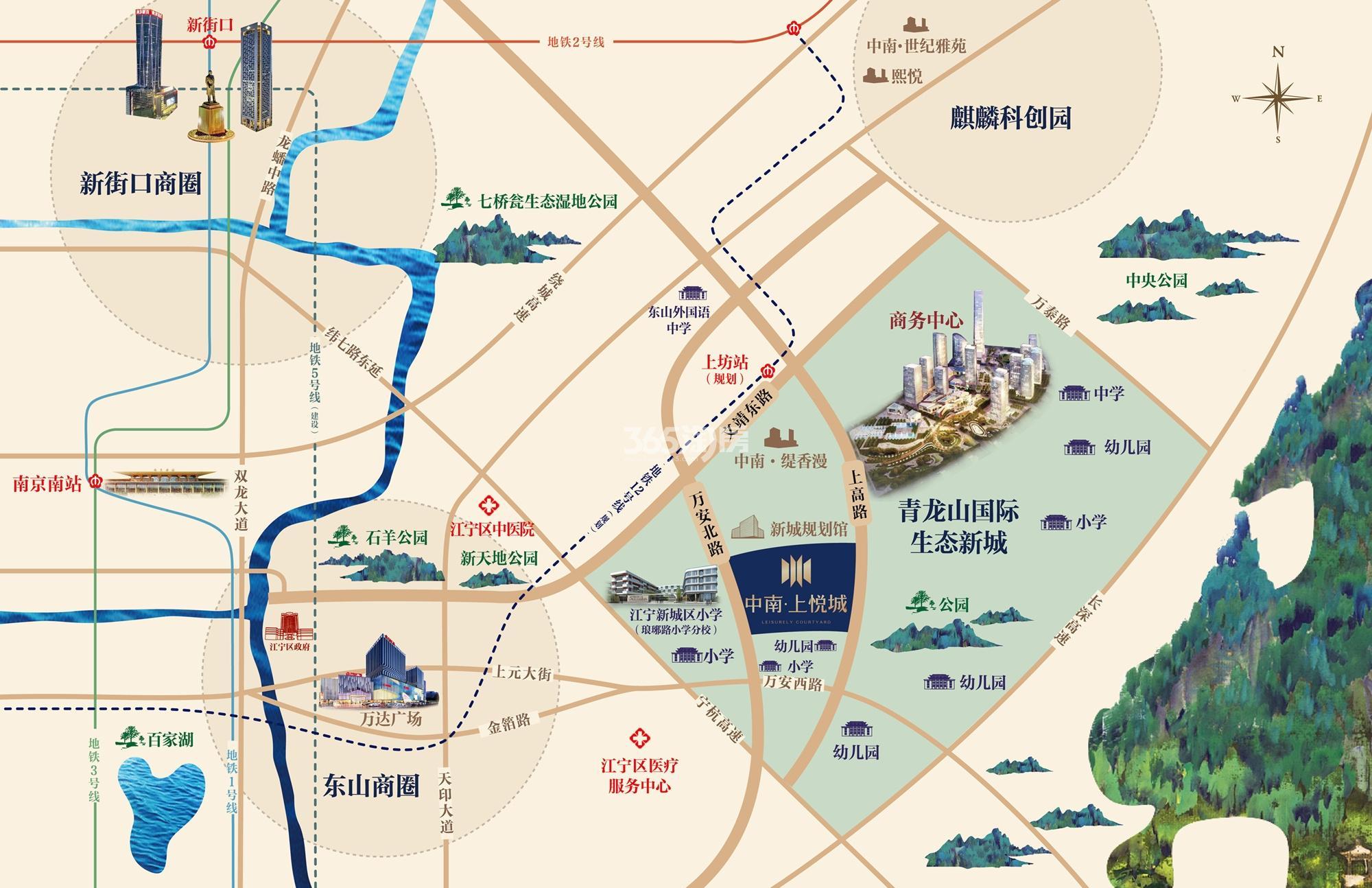 中南上悦花苑(原中南上悦城)交通图