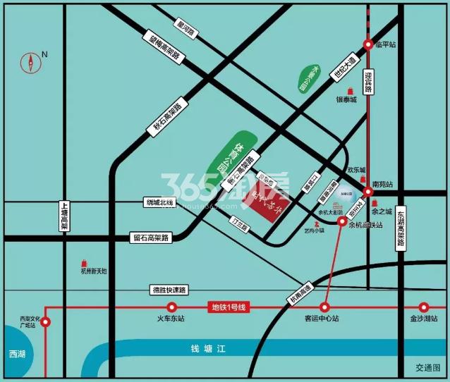 中交理想时代芳华交通图