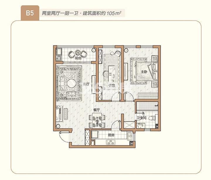 青奥村105㎡户型图