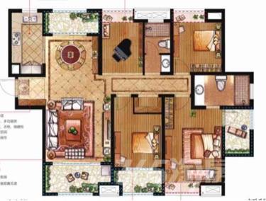 宝龙广场4室2厅2卫132平米毛坯产权房2018年建