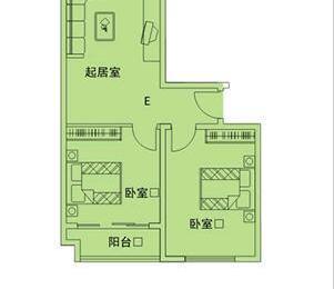 长江大厦2室1厅1卫90.27�O整租简装