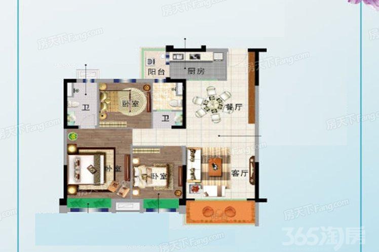 碧桂园欧洲城花园里3室2厅2卫118平米精装房2019年建