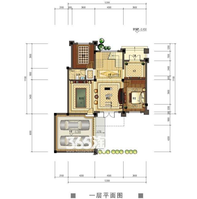 观澜天下50,51号楼一层户型图
