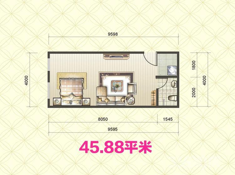 急售阳光80公寓2室1厅1卫45.88平不限购不限贷采光好