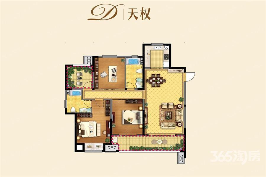 龙湖龙誉城4室2厅2卫140�O整租毛坯
