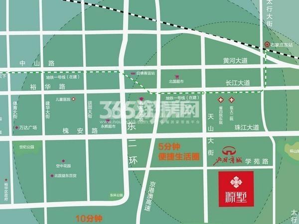 红石原著小区交通图