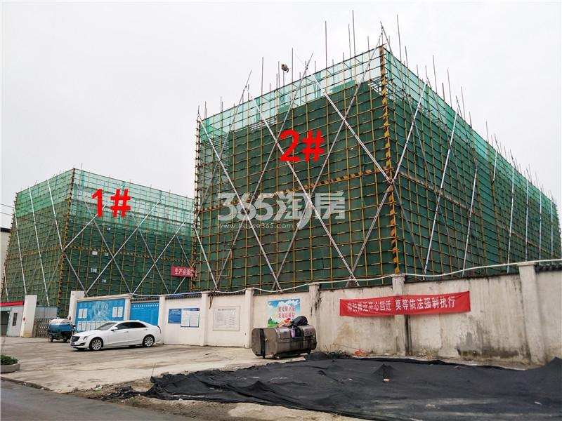 绿地理想城悦湖公馆在建1、2#楼实景图(4.4)