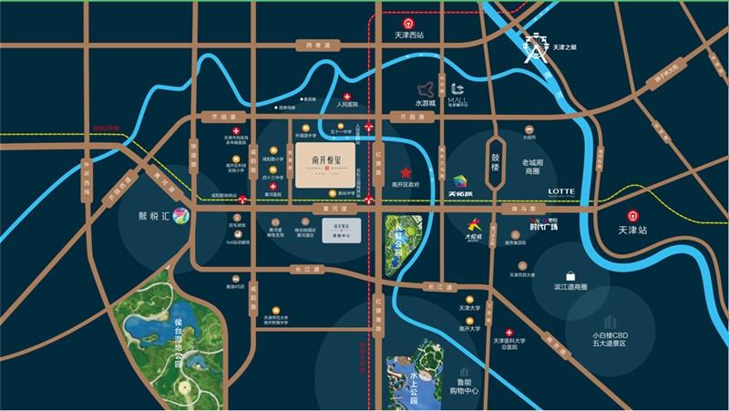 南开悦玺交通图