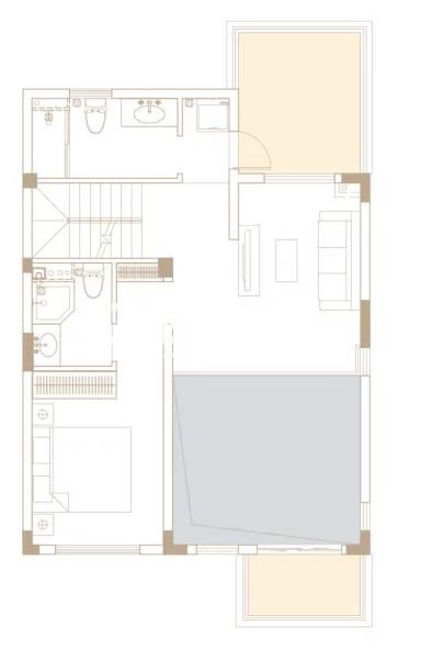 238平户型, 联排别墅-三楼