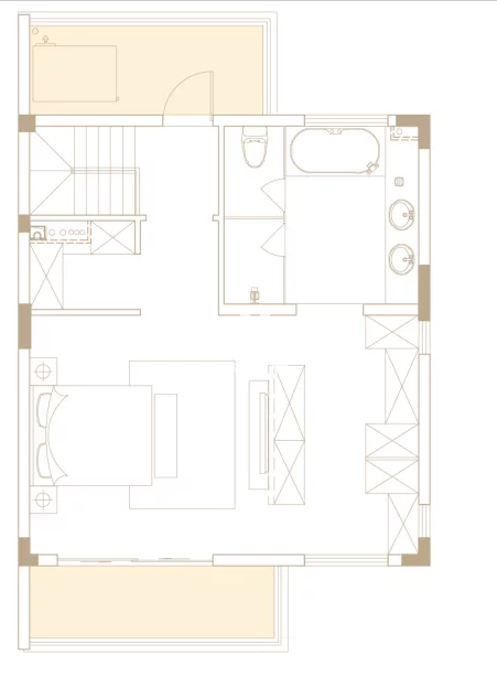 238平户型, 联排别墅-二楼