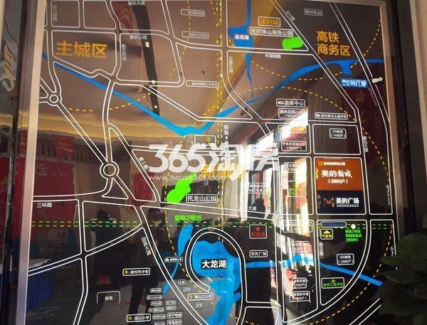 美的广场交通图