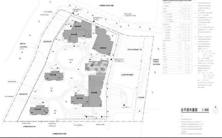 绿地西水东中央生活区1B#地块规划图