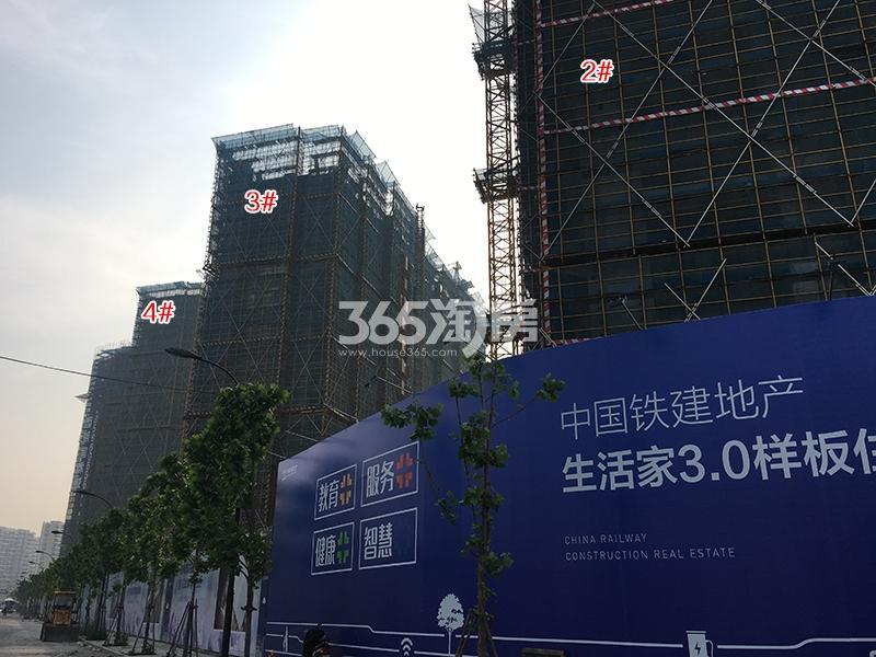 中国铁建西湖国际城高层2-4号楼施工进程(2018.4)
