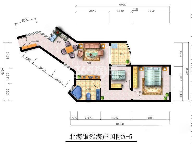 2室2厅1卫1厨72.46
