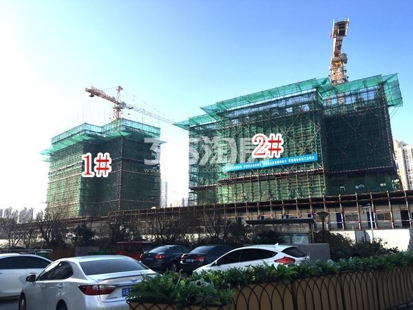 中洲崇安府一期1#、2#楼实景图(2018.3 摄)