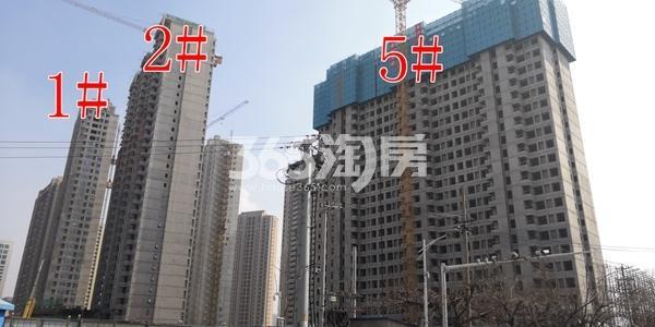 万科翡翠天地一期1、2、5#楼工程实景(3.15)