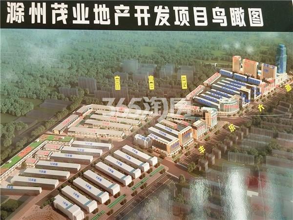 茂业长江商贸城板材区鸟瞰图