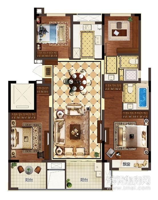 未来科技城新城峯璟4室2厅2卫116㎡整租毛坯