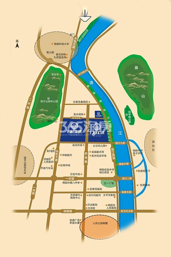 福星上江城交通图