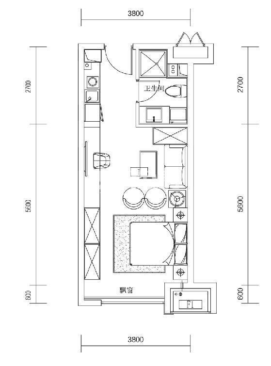 郡源悦城公寓户型图