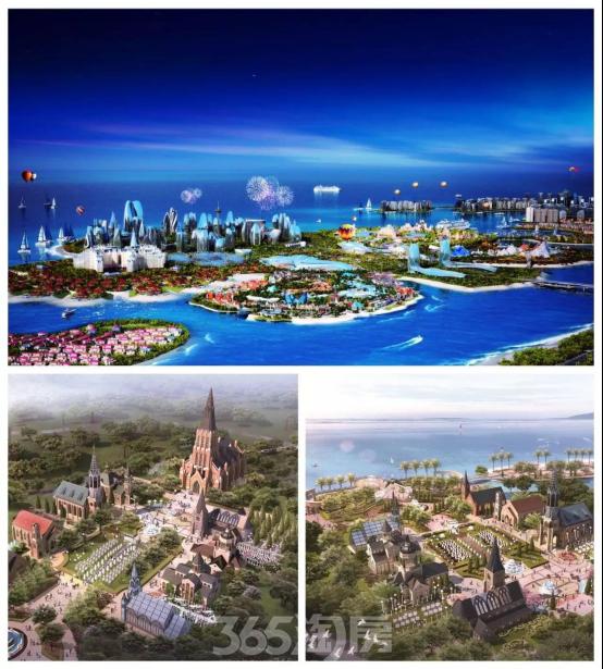 中国海南海花岛:繁华世界做恋爱背景