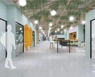 南京南站地铁口 100米 带家具 联合办公 森林系 办公 环境