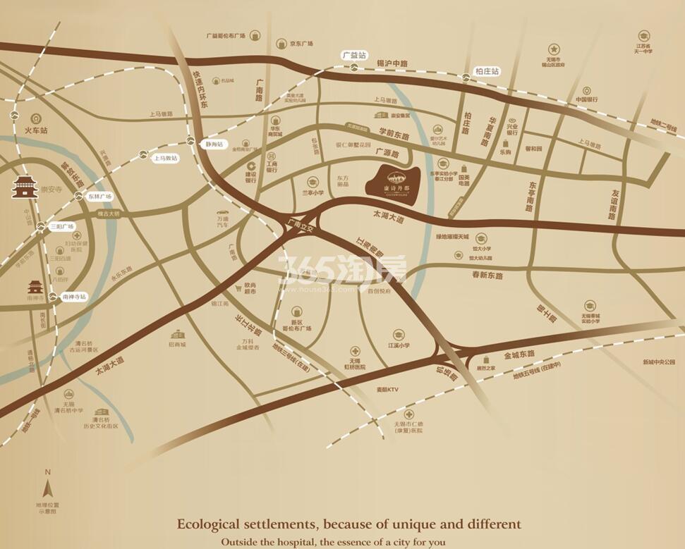 康诗丹郡交通图