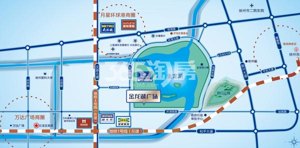 金龙湖广场交通图