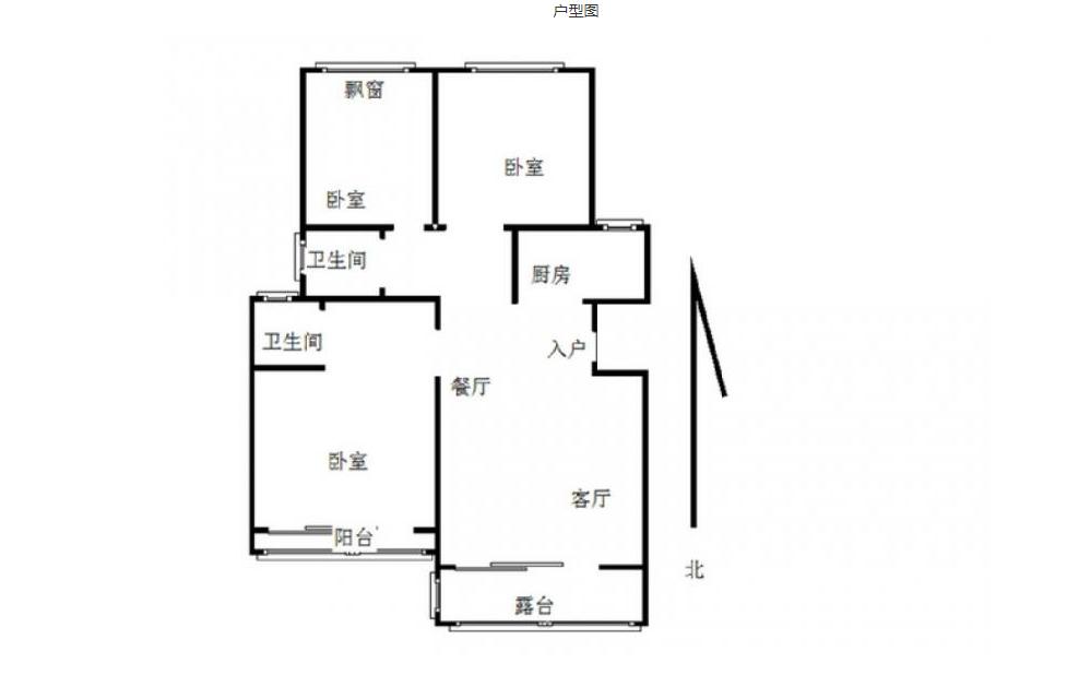 栖霞区仙林尚东花园3室2厅户型图