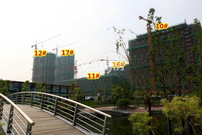 中锐星公元10-12#、16-17#楼工程进度实景(2018.4摄)