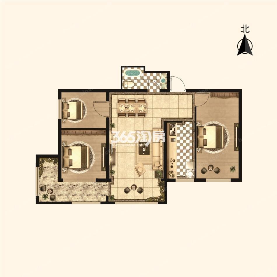 三室两厅一卫94.04平方米