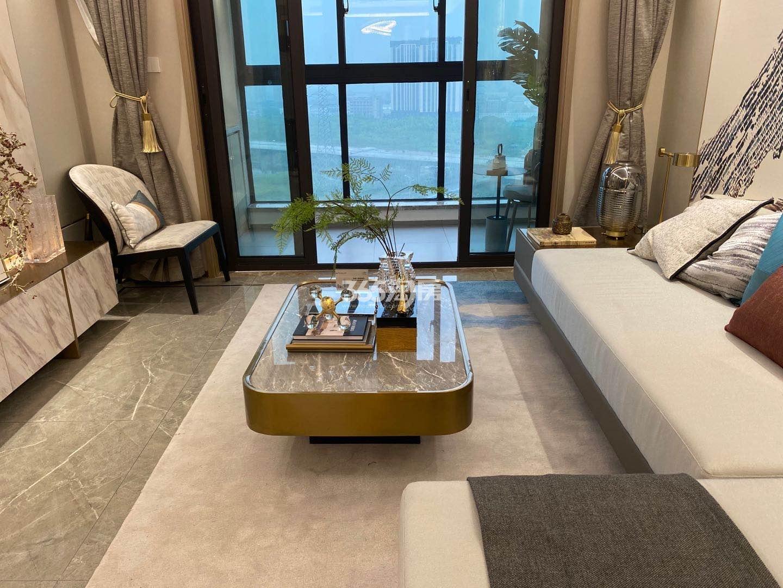 江山大境高层约128㎡样板间-客厅